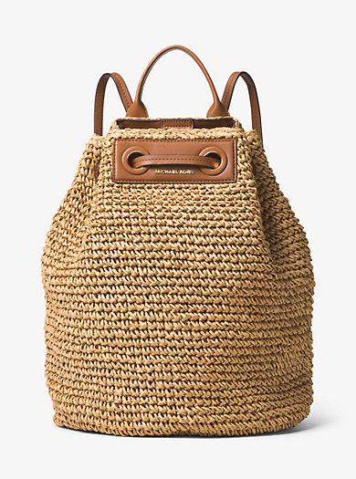 Krissy Large Straw Backpack by Michael Kors