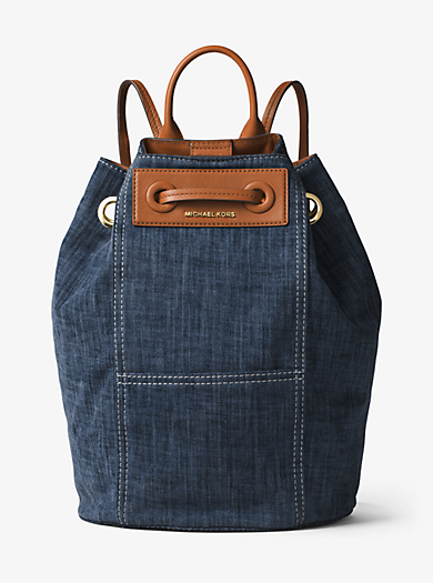 Krissy Large Denim Backpack by Michael Kors