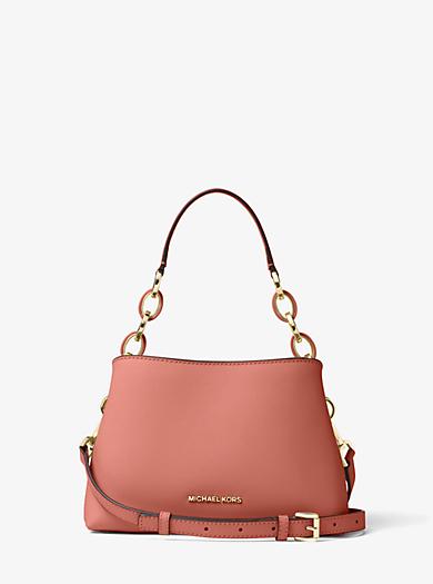 Portia Small Saffiano Leather Shoulder Bag by Michael Kors