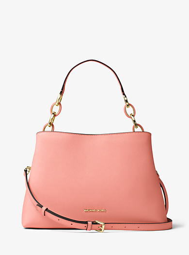 Portia Large Saffiano Leather Shoulder Bag by Michael Kors