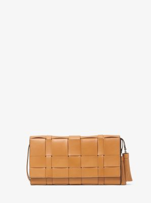 Vivian Woven-Leather Clutch 1030c8f9f64c3