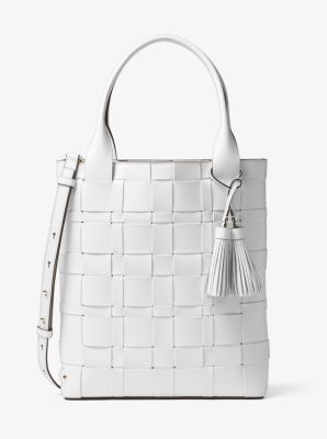 Vivian Large Woven Leather Tote 674f3d2687fd