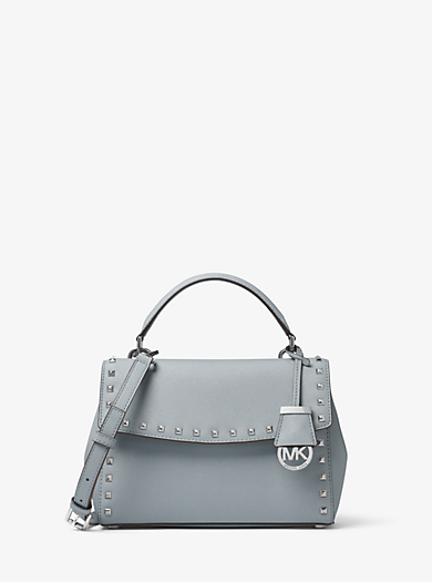 Ava Small Studded Leather Satchel by Michael Kors