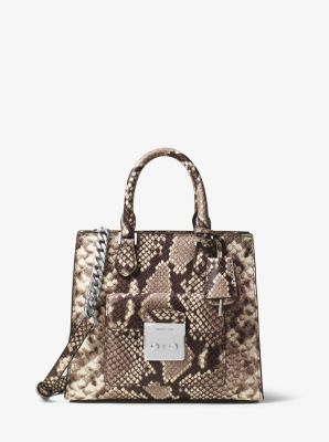 Bridgette Small Embossed-Leather Messenger by Michael Kors