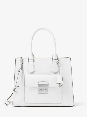 Bridgette Medium Saffiano Leather Tote by Michael Kors