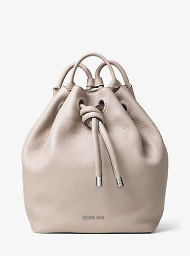 Dalia Large Leather Backpack by Michael Kors