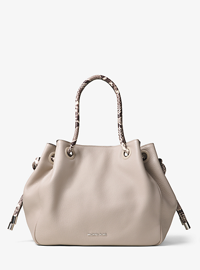 Dalia Large Leather Tote by Michael Kors
