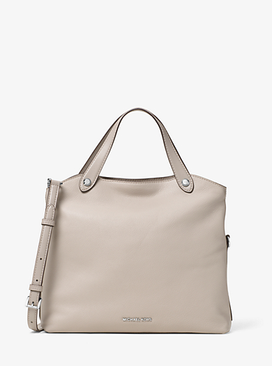 Hyland Small Leather Satchel by Michael Kors