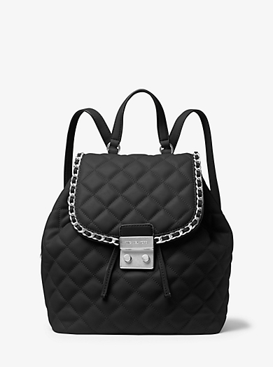 Carine Medium Quilted-Leather Backpack by Michael Kors