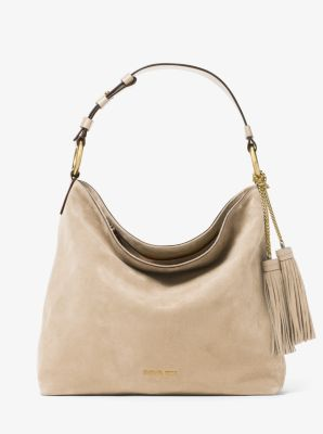 Elyse Large Suede Shoulder Bag by Michael Kors