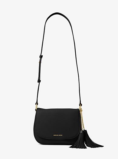 Elyse Large Leather Saddlebag by Michael Kors