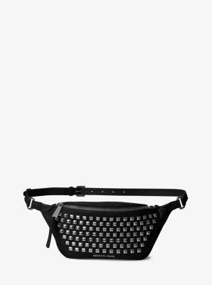 Rhea Leather Pyramid Studded Belt Bag by Michael Kors