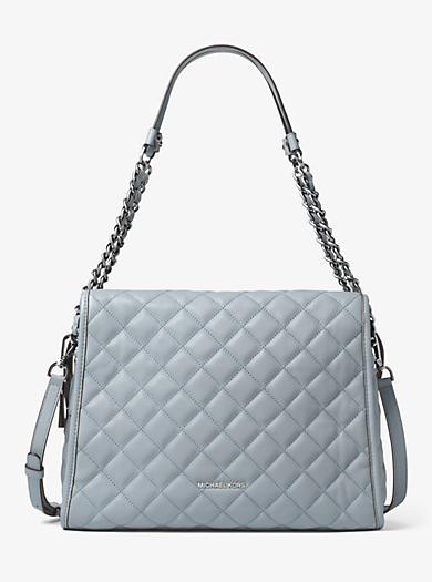 Rachel Large Quilted-Leather Shoulder Bag by Michael Kors