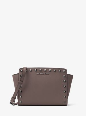 Selma Medium Studded Leather Messenger by Michael Kors
