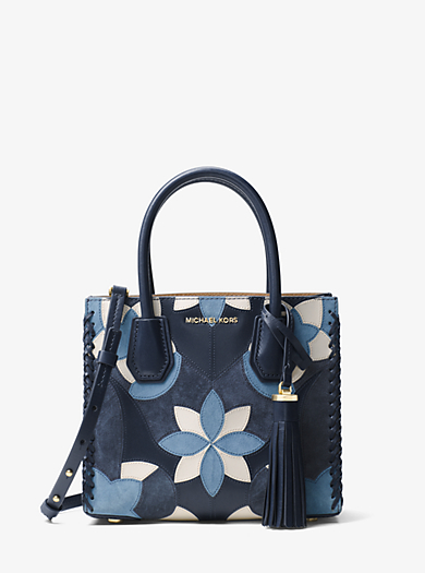 Mercer Floral Patchwork Leather Crossbody by Michael Kors