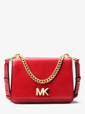 마이클 마이클 코어스 Michael Michael Kors Mott Leather Crossbody Bag,SOFT PINK