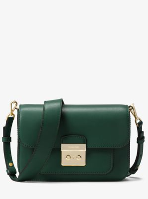 마이클 마이클 코어스 Michael Michael Kors Sloan Editor Leather Shoulder Bag,RACING GREEN