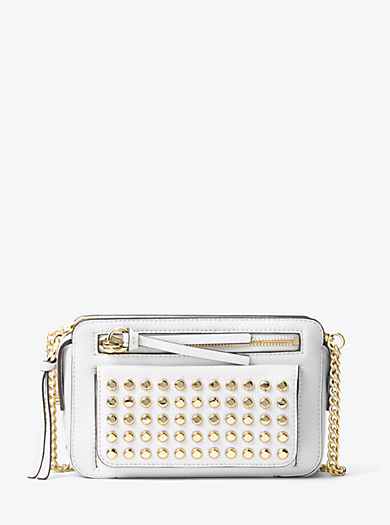 Mitchell Studded Leather Crossbody by Michael Kors