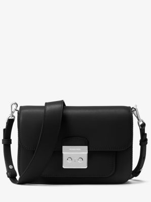 마이클 마이클 코어스 Michael Michael Kors Sloan Editor Leather Shoulder Bag,BLACK