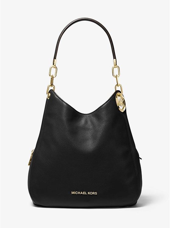 Lillie Large Pebbled Leather Shoulder Bag | Michael Kors