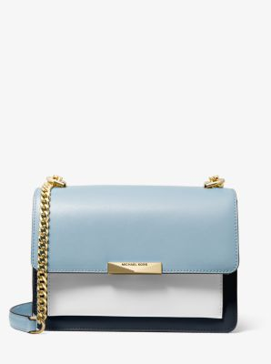 마이클 마이클 코어스 Michael Michael Kors Jade Large Tri-Color Leather Crossbody Bag,ADMIRL MULTI