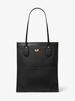 마이클 마이클 코어스 Michael Michael Kors Bay Large Pebbled Leather Tote Bag,BLACK