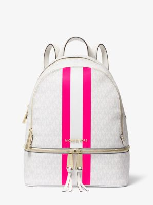 마이클 마이클 코어스 Michael Michael Kors Rhea Medium Logo Stripe Backpack