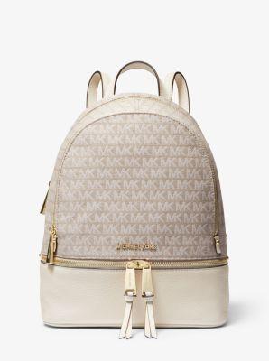 마이클 마이클 코어스 백팩 Michael Michael Kors Rhea Medium Logo Jacquard Backpack
