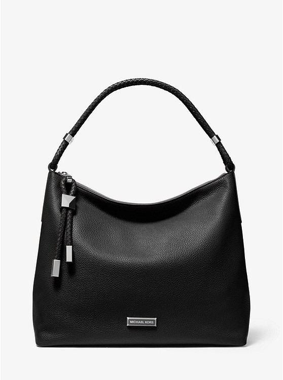 Lexington Large Pebbled Leather Shoulder Bag | Michael Kors