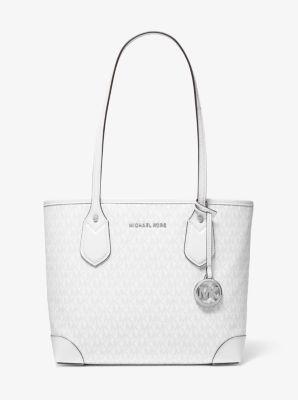마이클 마이클 코어스 Michael Michael Kors Eva Small Logo Tote Bag,BRIGHT WHT