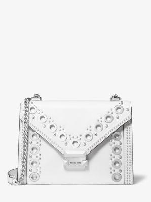 마이클 마이클 코어스 위트니 숄더백 라지, 그로멧 고리 장식 - 2 컬러 Michael Michael Kors Whitney Large Grommeted Leather Convertible Shoulder Bag