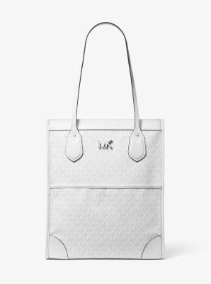 마이클 마이클 코어스 Michael Michael Kors Bay Large Logo Tote Bag,BRIGHT WHT
