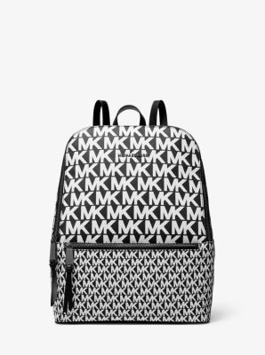 마이클 마이클 코어스 Michael Michael Kors Toby Medium Graphic Logo Backpack,BLACK/WHITE