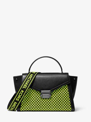 마이클 마이클 코어스 Michael Michael Kors Whitney Medium Neon Checkerboard Logo Satchel