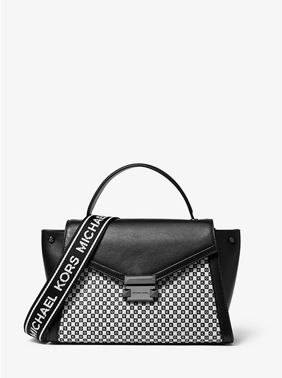 Whitney Medium Checkerboard Logo Satchel | Michael Kors