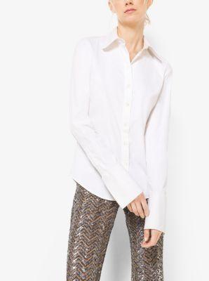 French Cuff Cotton-Poplin Shirt by Michael Kors