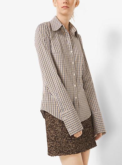 Tattersall Cotton-Poplin Shirt by Michael Kors
