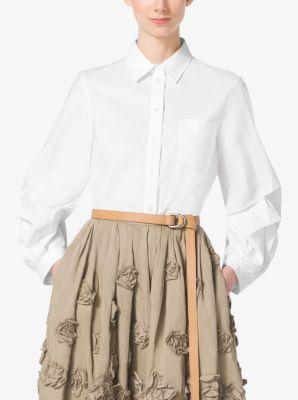Cotton-Poplin Lantern Shirt by Michael Kors