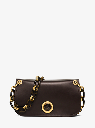 Goldie French Calf Shoulder Bag by Michael Kors