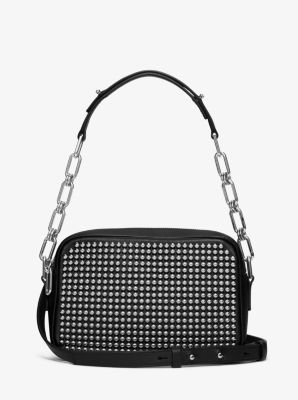 Julie Small Studded French Calf Camera Bag by Michael Kors