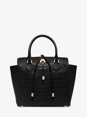 Miranda Crocodile Large Tote by Michael Kors