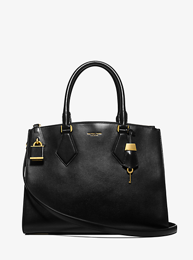 Casey Large Leather Satchel by Michael Kors
