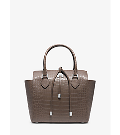Miranda Crocodile Medium Tote by Michael Kors