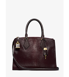Casey Hair Calf Large Satchel