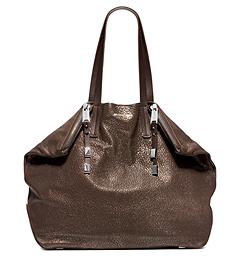 Harlow Metallic Leather Large Tote