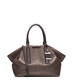 Lexi Metallic Leather Large Satchel