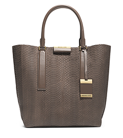 Lexi Sueded Snake Large Tote