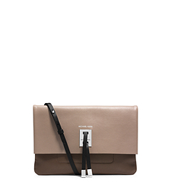 Miranda Calf Leather Foldover Clutch