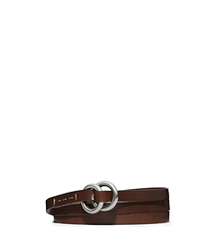 Double-Ring Vachetta Leather Belt