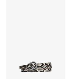 Double-Ring Python Belt